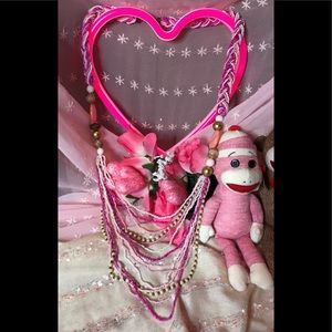 Jewelry - 🧣💗PINK SALE -BEADED & BRAIDED NECKLACE💖💕